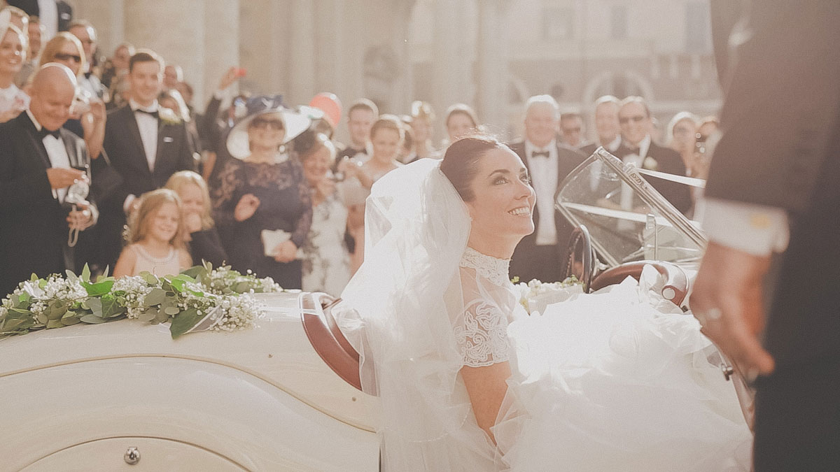 English speaking Catholic church wedding in Rome