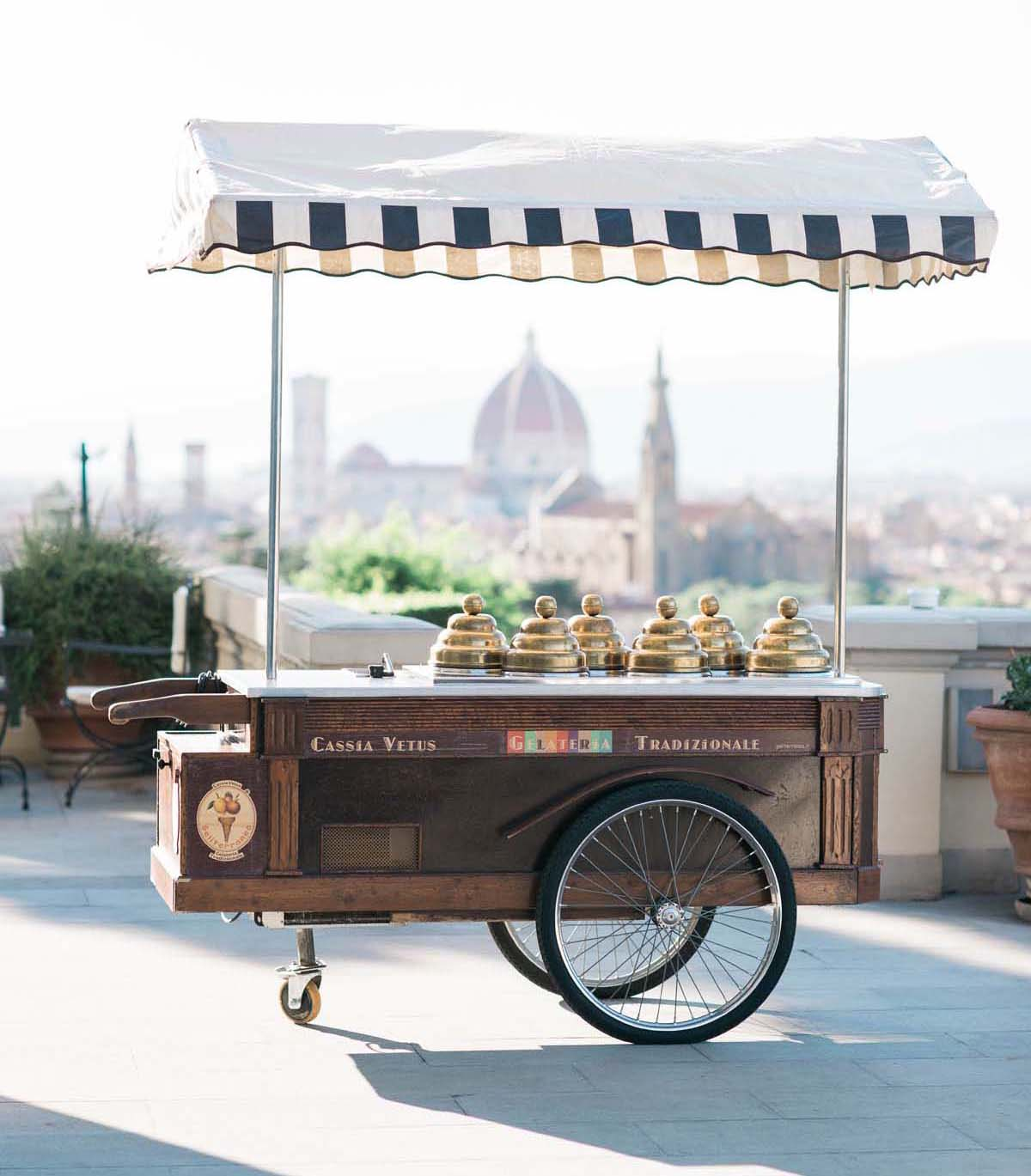 organic-gelato-cart-Florence-wedding