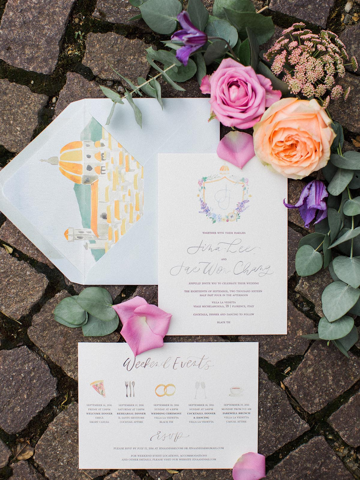 watercolor-wedding-invitations-with-Florence-duomo