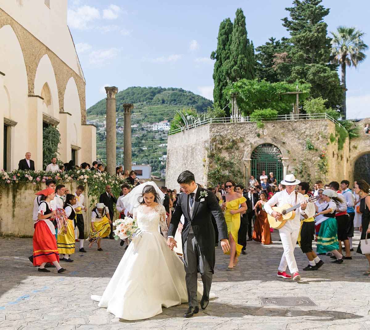 Italian traditional folk musicians wedding Tarantella